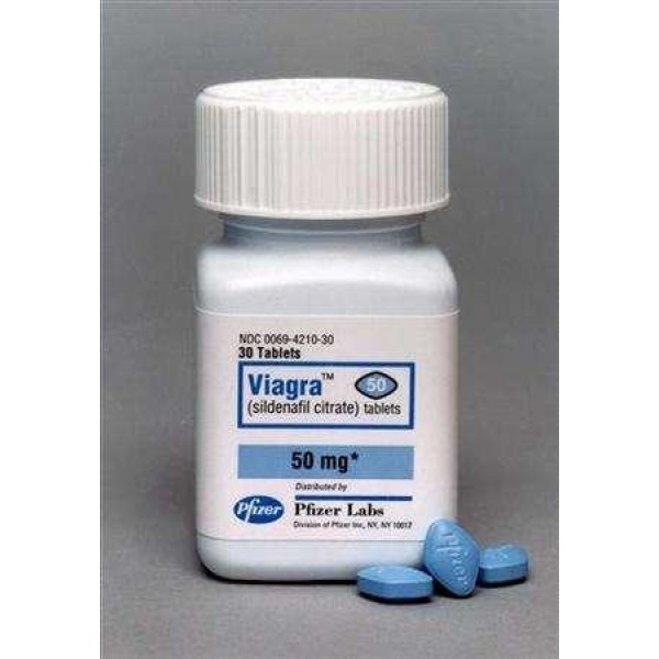 Brand Viagra 50 mg - bottle of 30 pills D